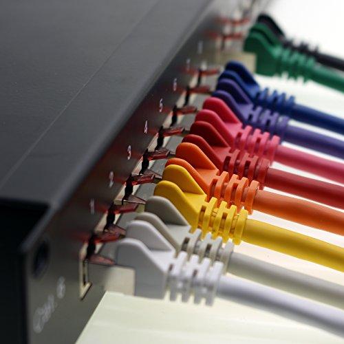 1aTTack CAT6 CAT 6 Netzwerk-Patch-Kabel SET (10 Stück) 0,5m 0,5 Meter – SFTP – doppelt geschirmt PIMF + GEFLECHT – Twisted Pair mit 2 x RJ45 Stecker und vergoldeten Kontaktflächen – grau - 6