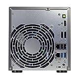 Asustor AS6204T 4-Bay NAS System (Intel Celeron, 4GB RAM, Gigabit-LAN mit Link-Aggregation, HDMI 1.4b, HotSwap, Raid 0, 1, 5, 6, 10 JBOD) schwarz - 2